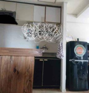 キッチン 賃貸 マスキングテープ キッチンカウンター DIY